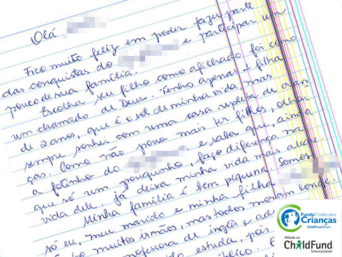 Carta De Agradecimento Para Madrinha Blog Child Fund